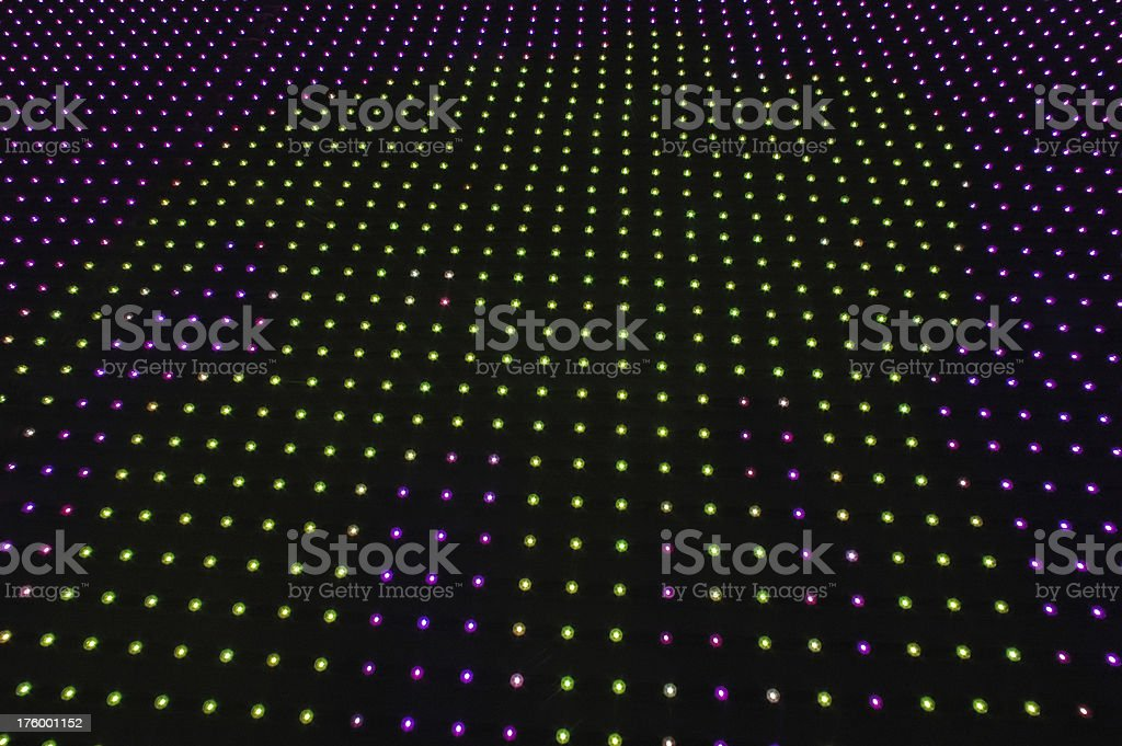 green and purple pin lights royalty-free stock photo