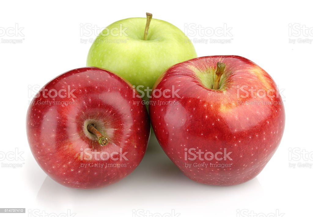 Green and Red Apples stock photo