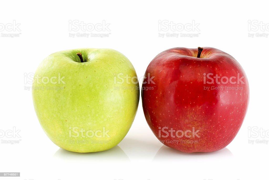 Verde e vermelho de maçãs foto de stock royalty-free