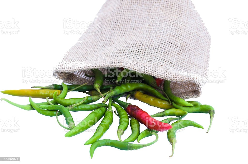 Zielona i czerwona chili zbiór zdjęć royalty-free