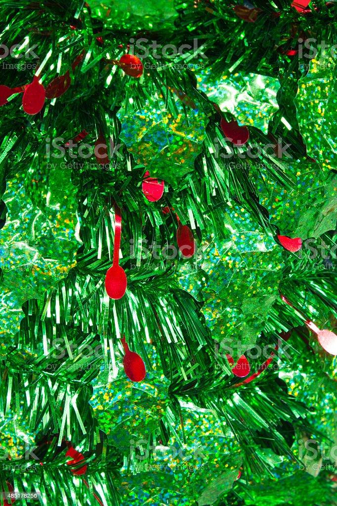 Guirlande de Noël vert et rouge photo libre de droits