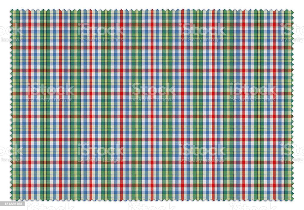 Green and Red Gingham Tablecloth Swatch royalty-free stock photo