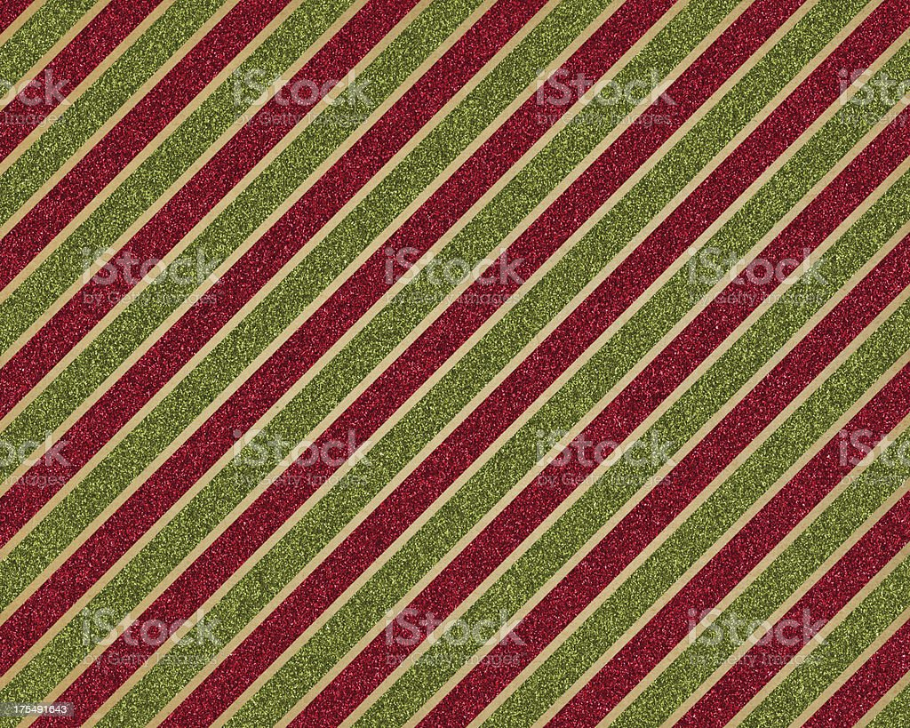 green and red glitter stripe paper stock photo