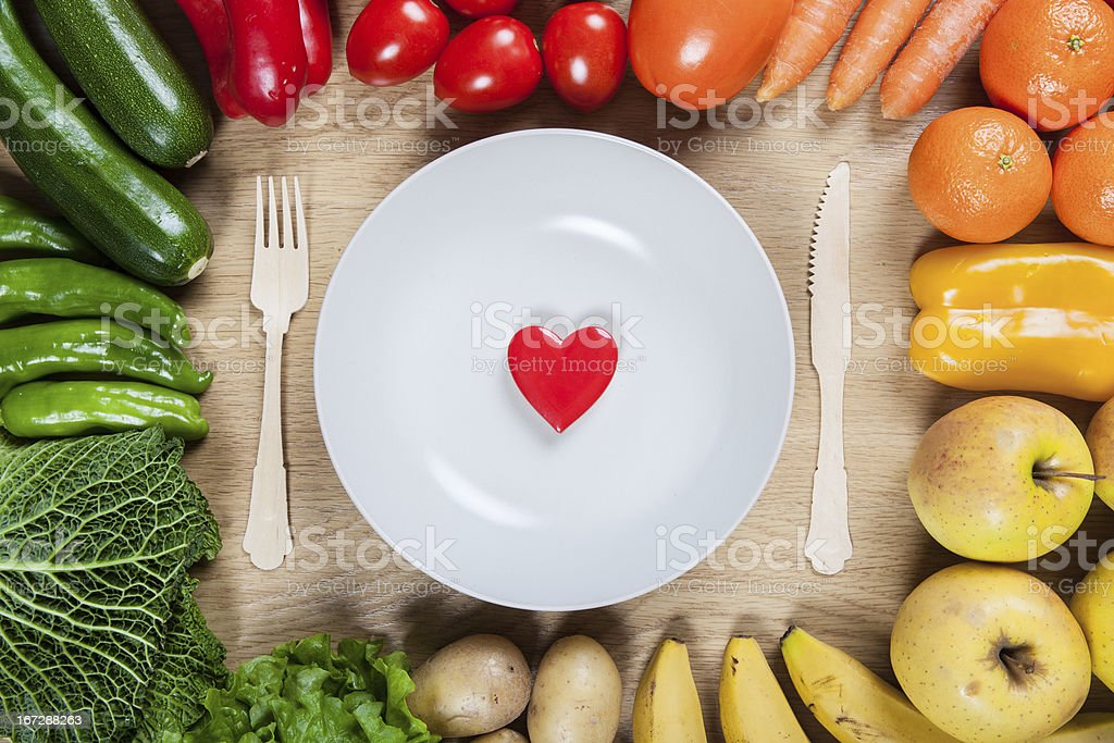 Green and red healthy food royalty-free stock photo