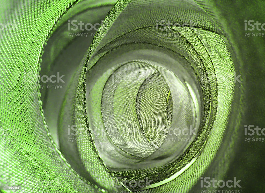 Green and silver ribbon royalty-free stock photo