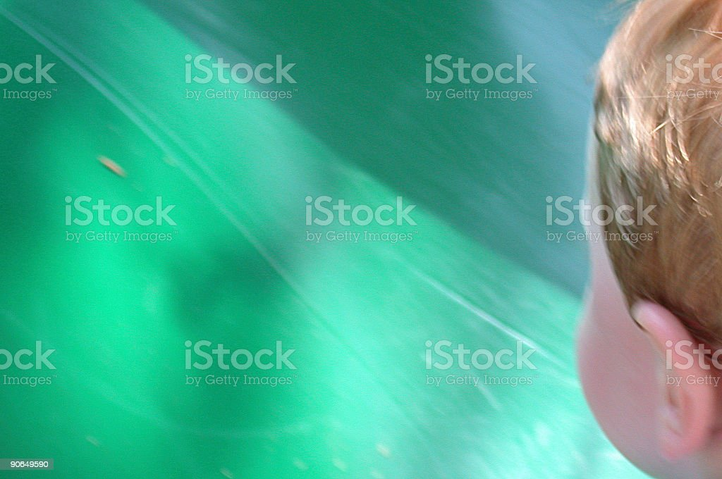 Green and the Child royalty-free stock photo