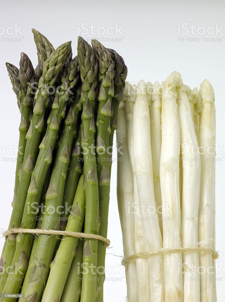 Green and White Asparagus royalty-free stock photo