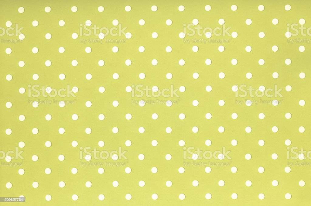 Green and white polka dot background or wallpaper stock photo