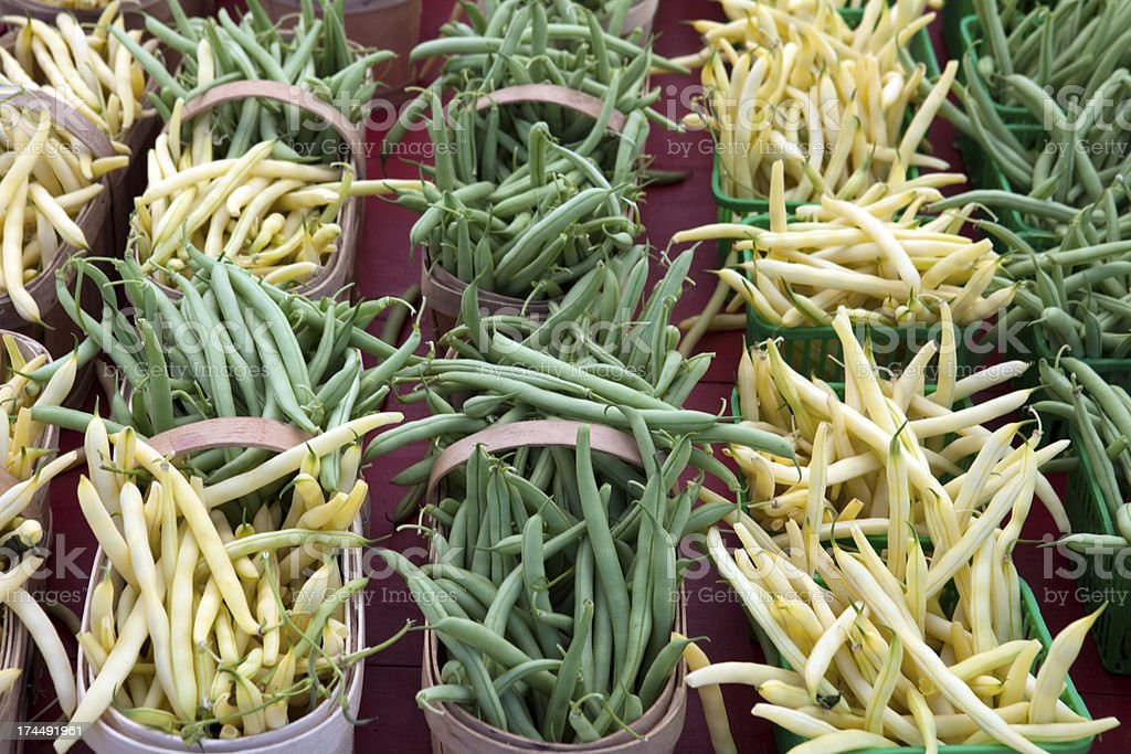Green and Yellow Beans stock photo