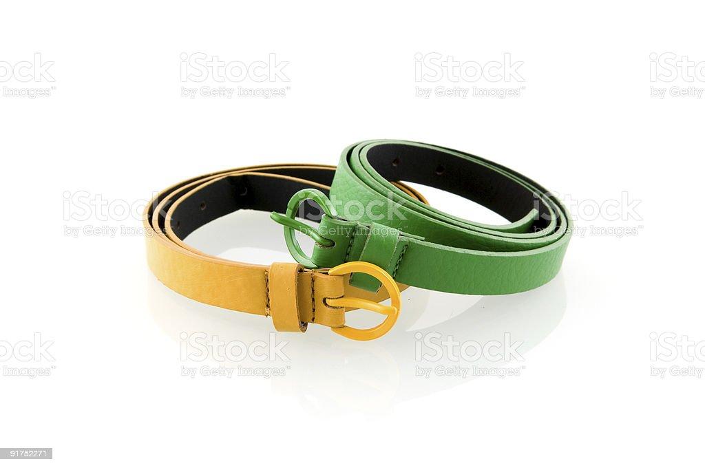 Ceinture verte et jaune photo libre de droits