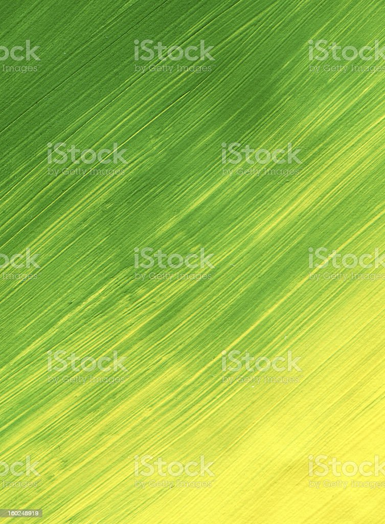 green and yellow textured Abstract Paint royalty-free stock photo
