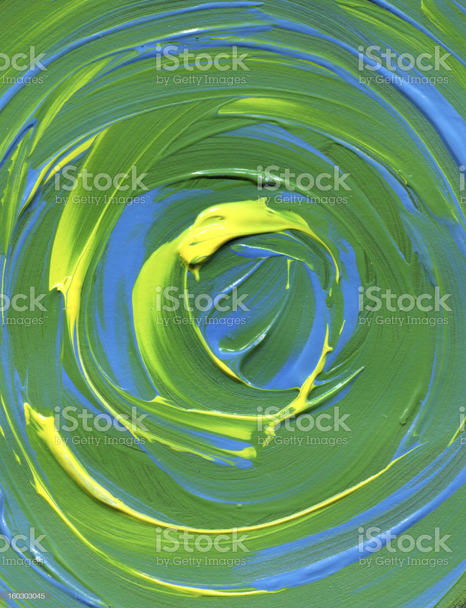 green and yellow textured Abstract Paint royalty-free stock vector art