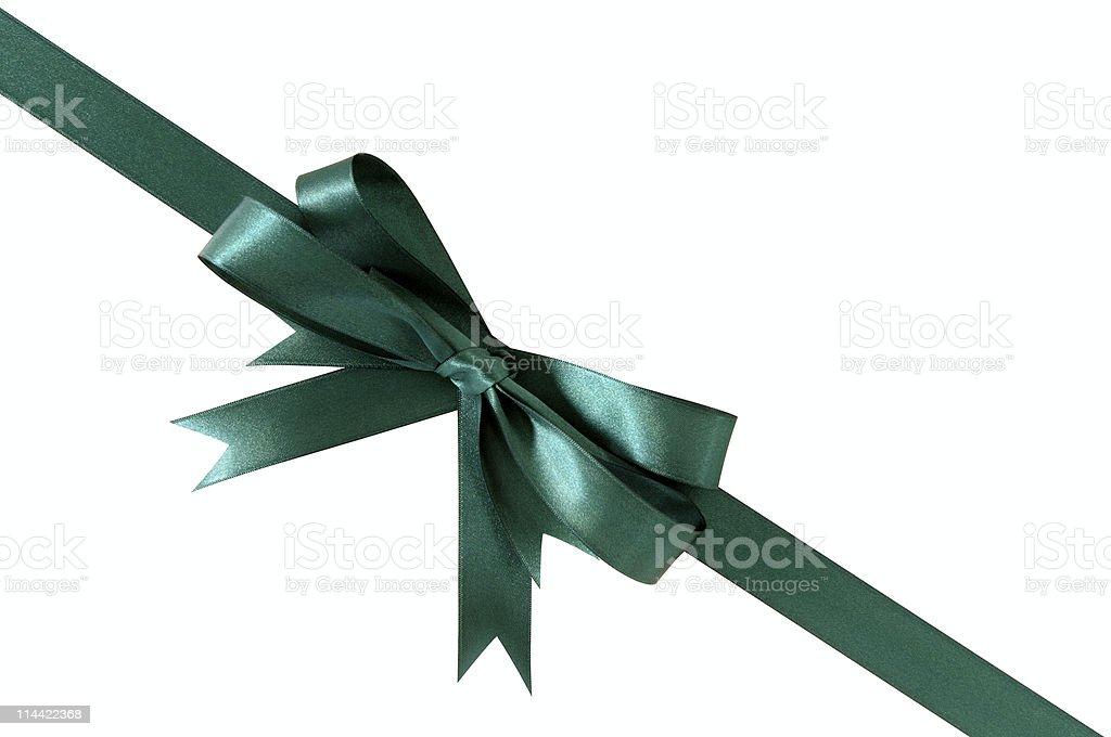 Green angled ribbon stock photo