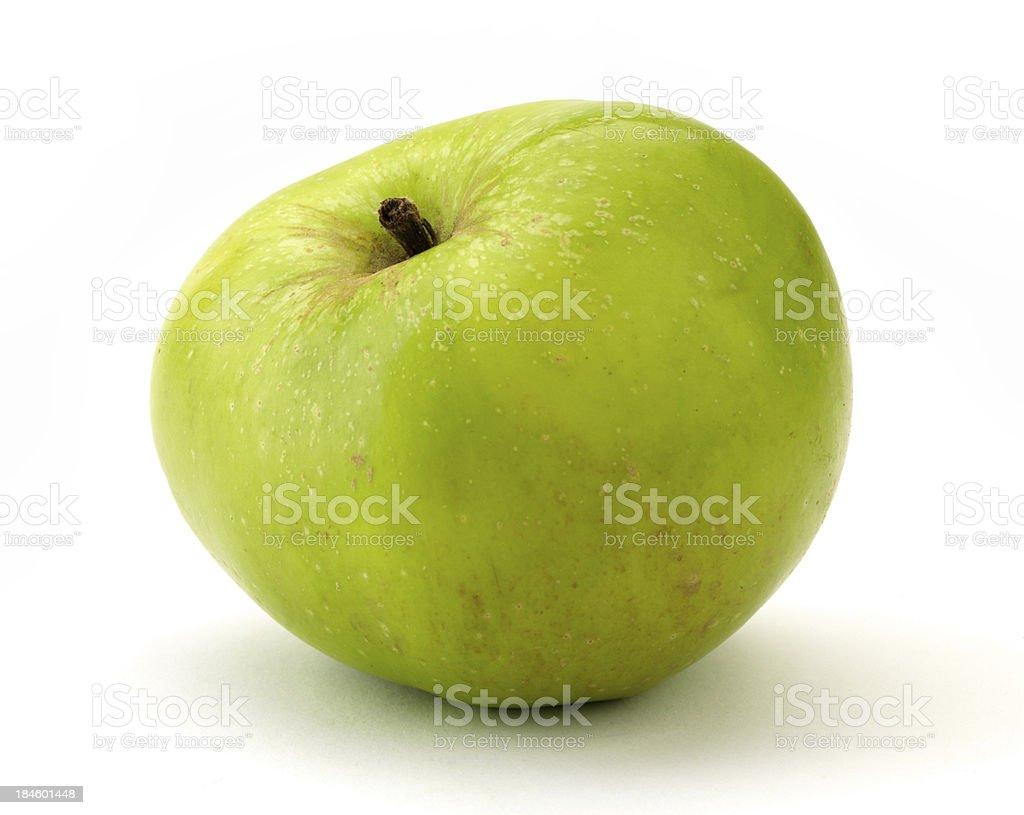 Green apple close up stock photo