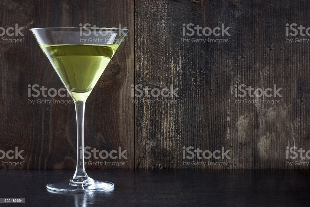 Green apple cocktail stock photo