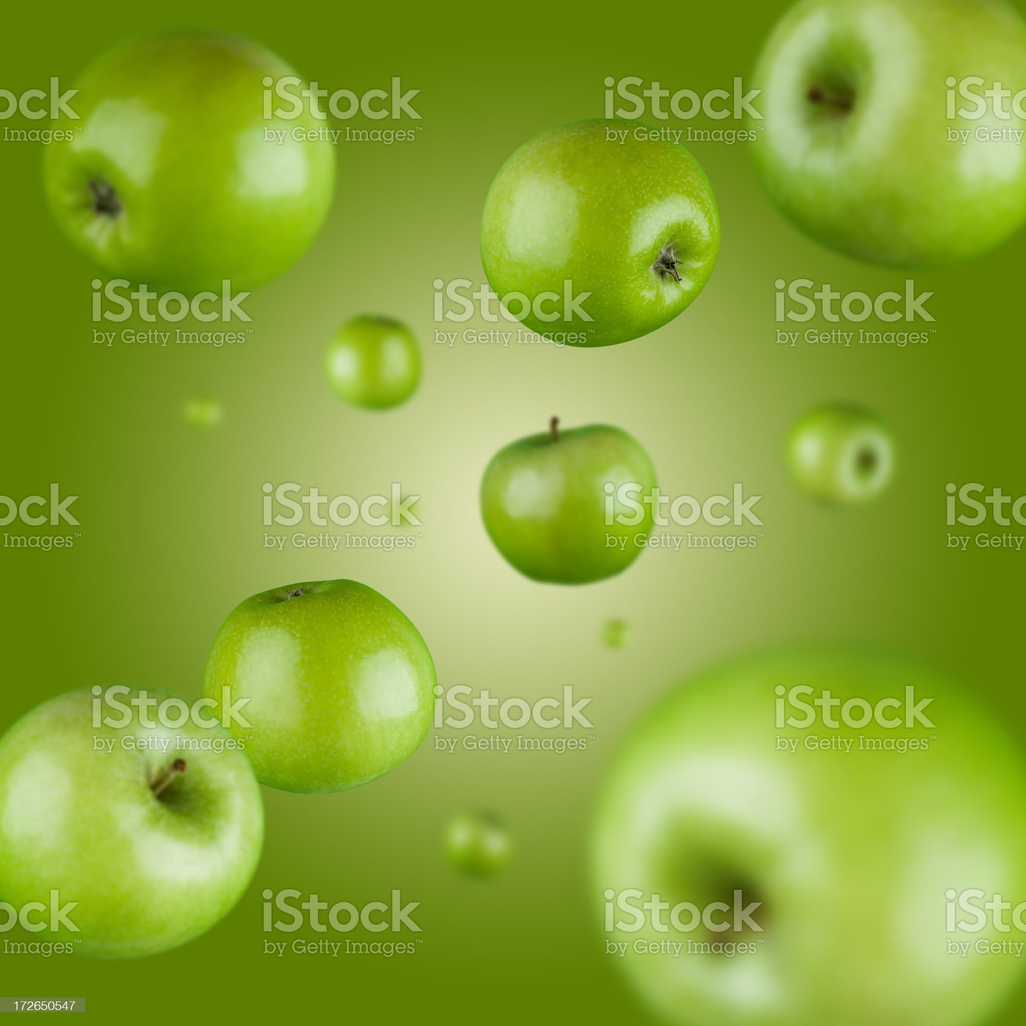 Green Apple Explosion royalty-free stock photo