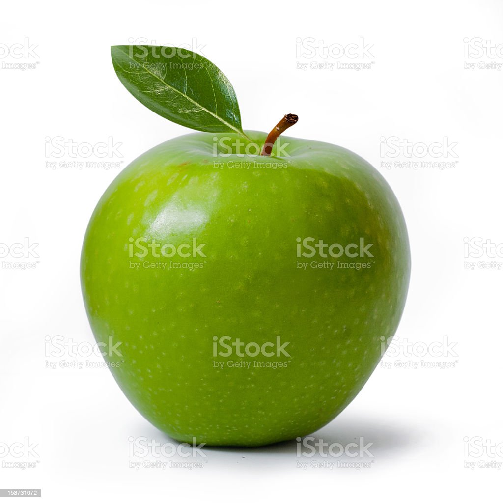 Green apple isolated on white background stock photo