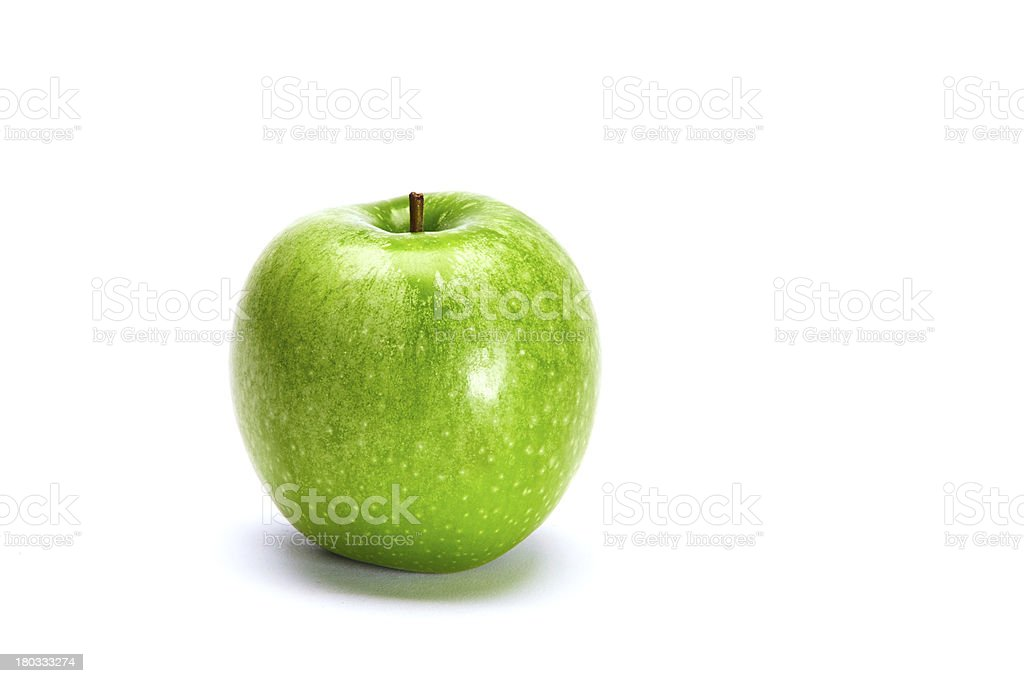 Green Apple Isolated On White royalty-free stock photo