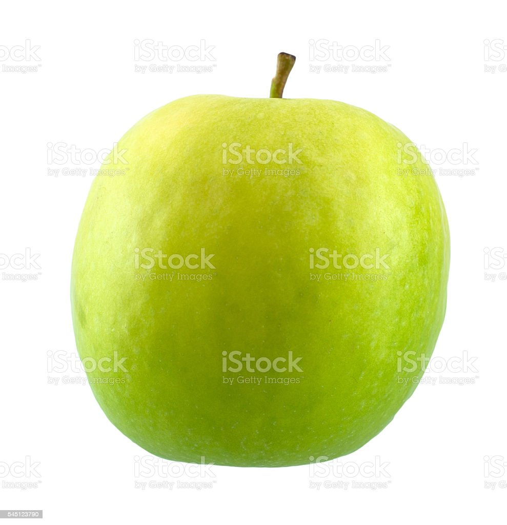 green apple isolated on white stock photo