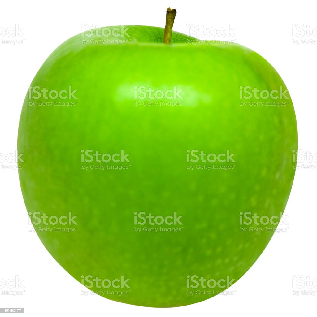 Green Apple isolated on white with clipping path royalty-free stock photo