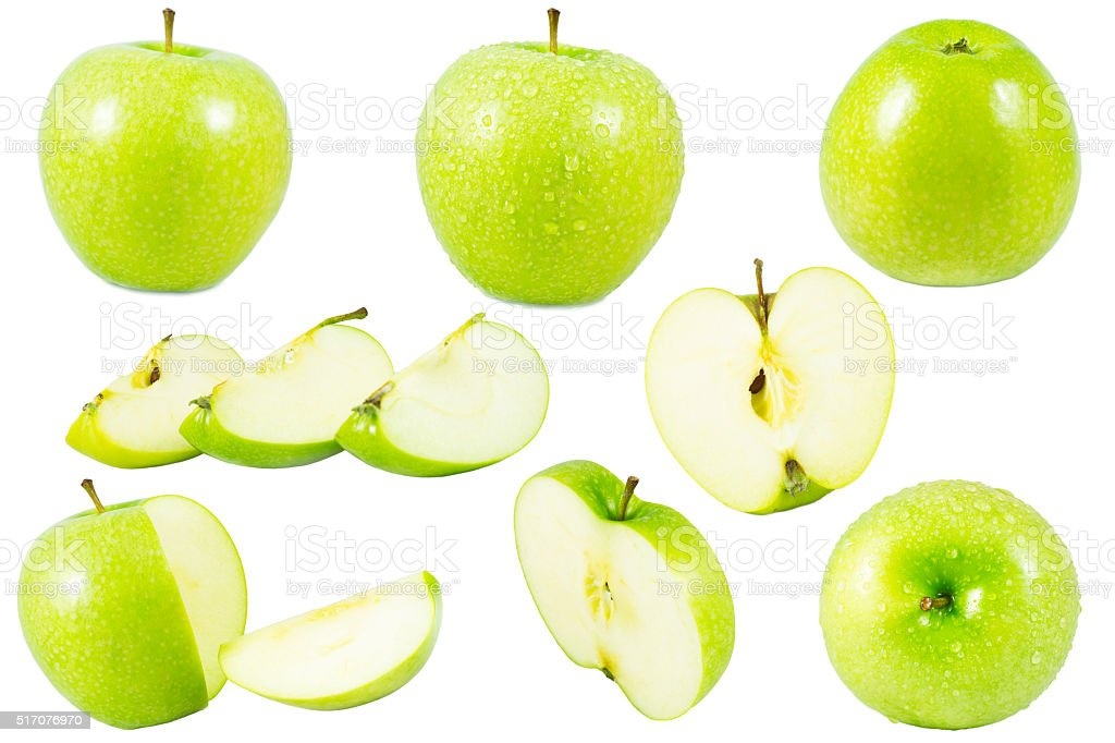 green apple isolated stock photo