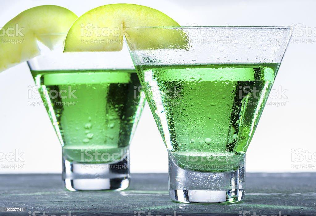 Green Apple Martini Cocktail stock photo