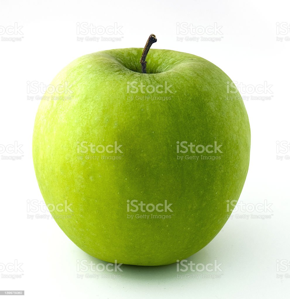 Green Apple On White Background royalty-free stock photo