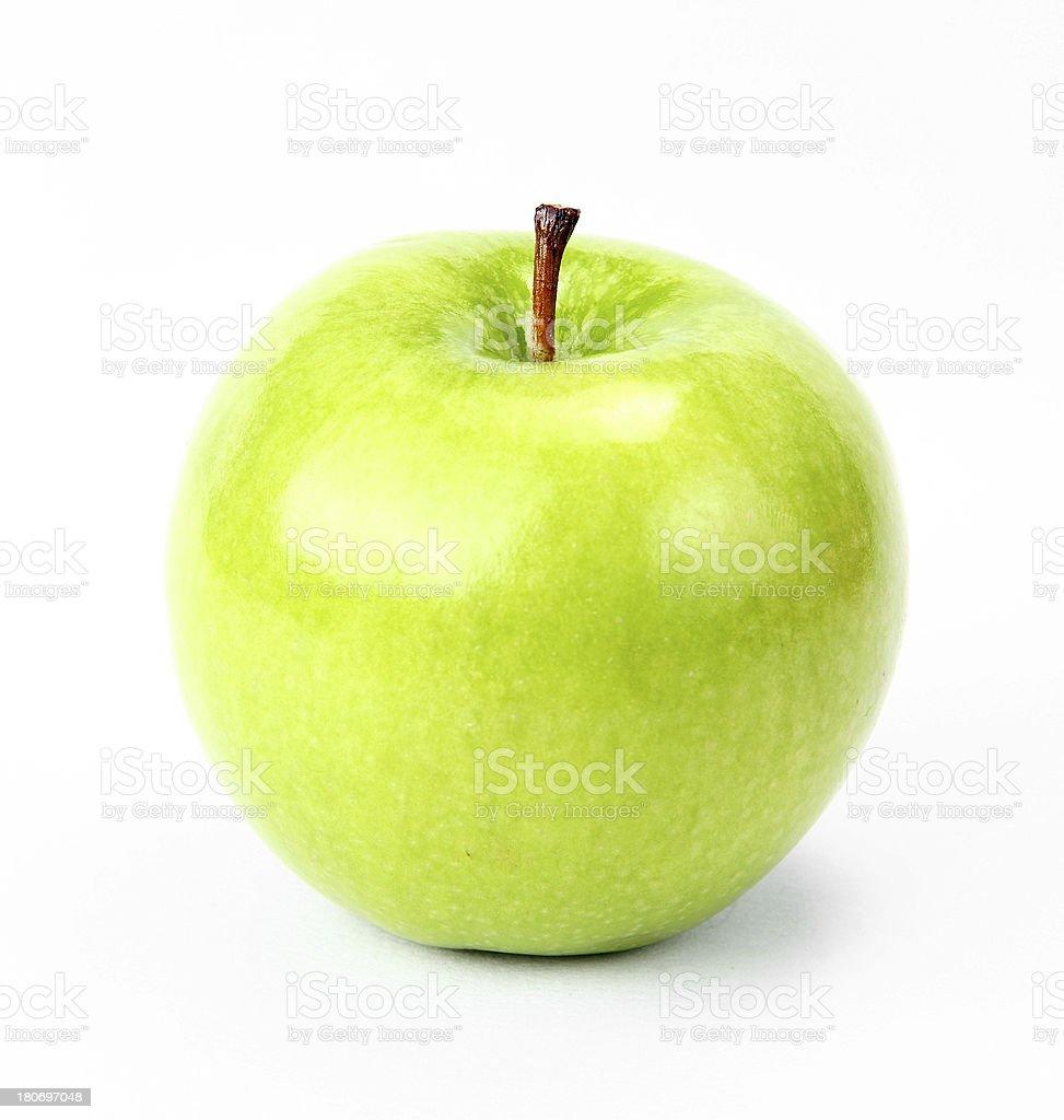 green apple on white royalty-free stock photo