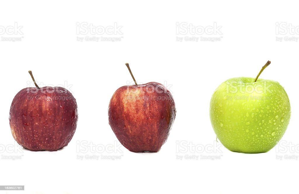 Green Apple one royalty-free stock photo