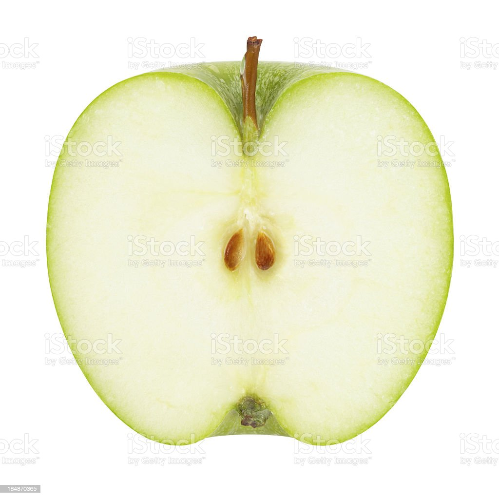 Green Apple Portion with Clipping Path stock photo