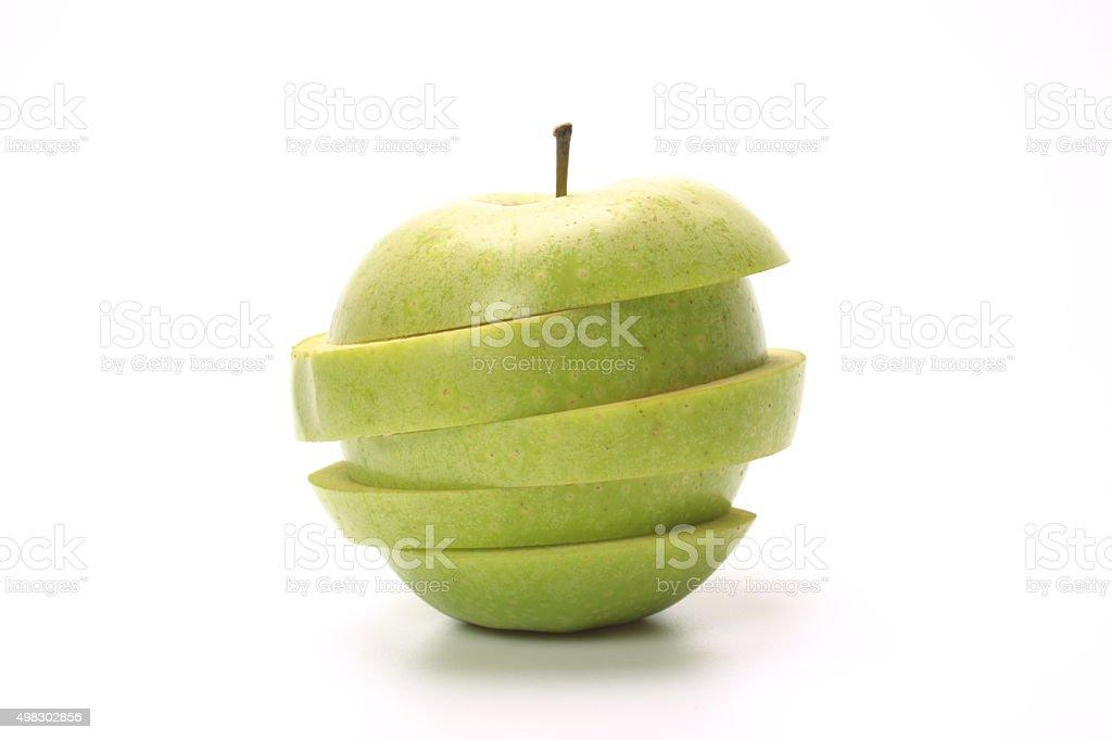 Green apple slice stock photo