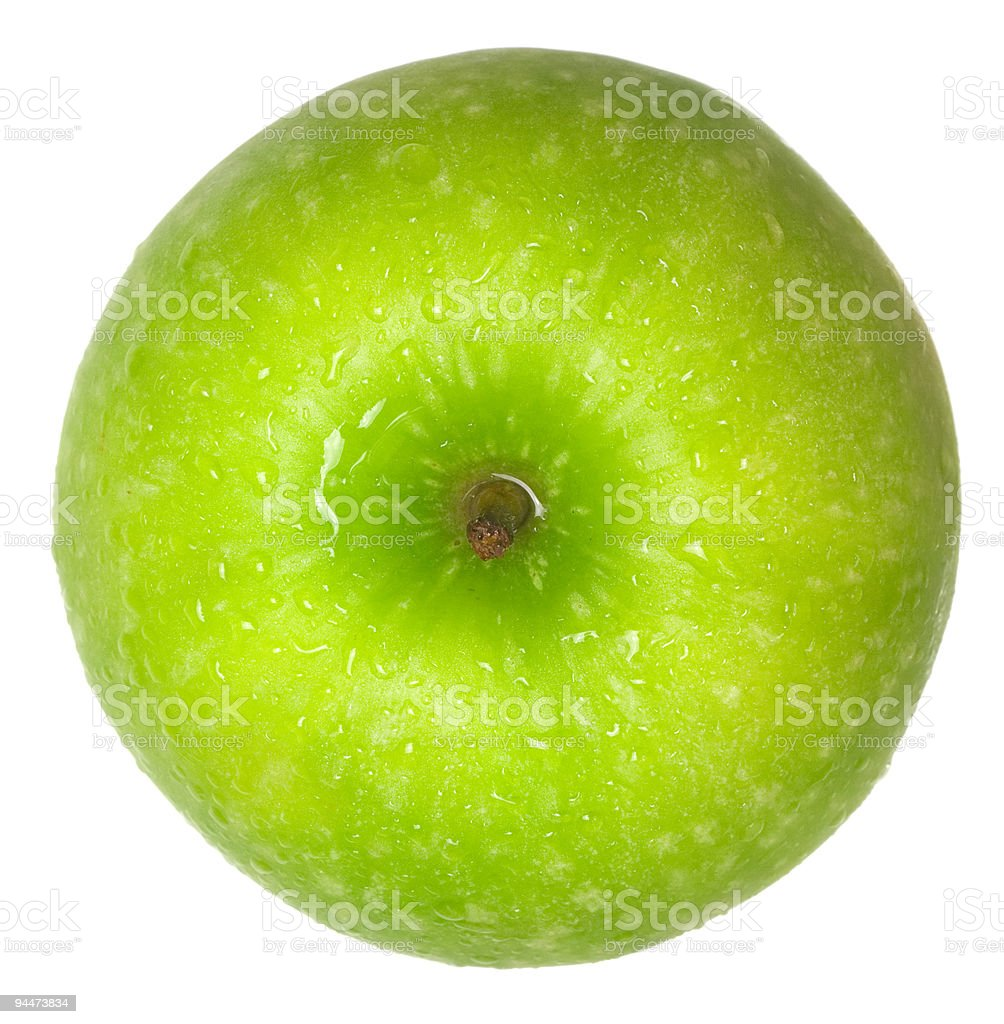 Green apple top view royalty-free stock photo