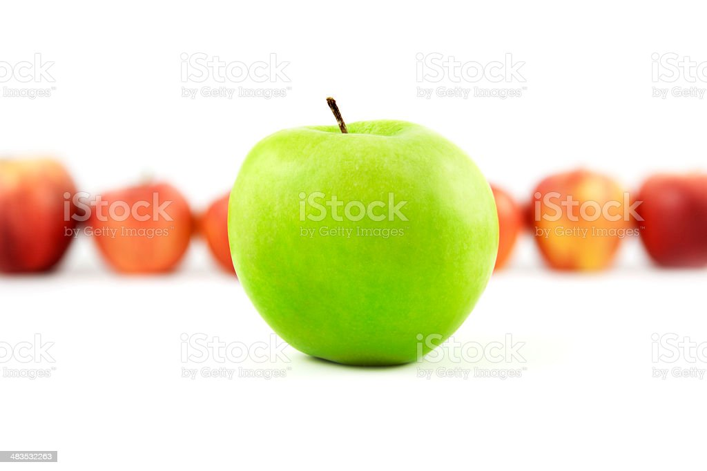 Green apple up front royalty-free stock photo