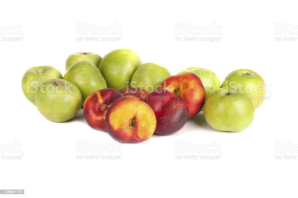 green apples and nectarines royalty-free stock photo