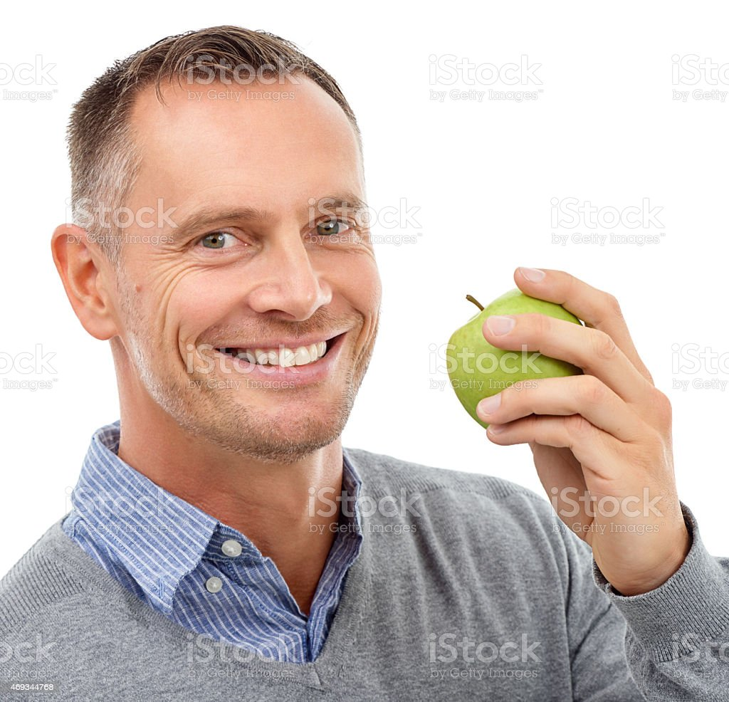 Green apples are my favourite stock photo