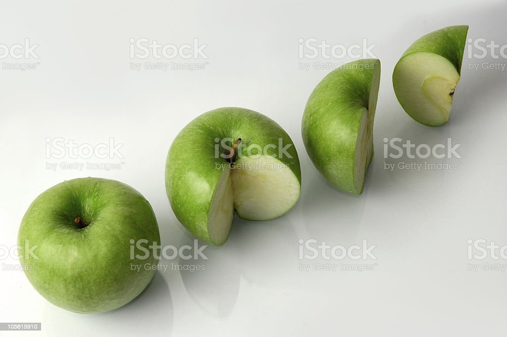 Green apples finance rates concept stock photo