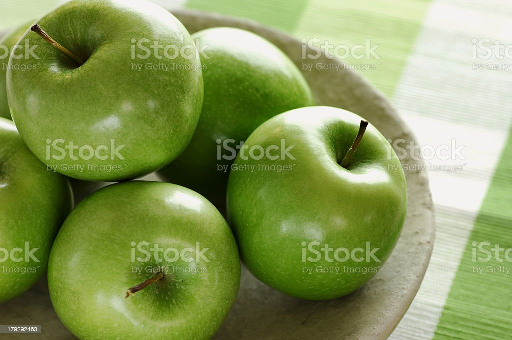 green apples stock photo