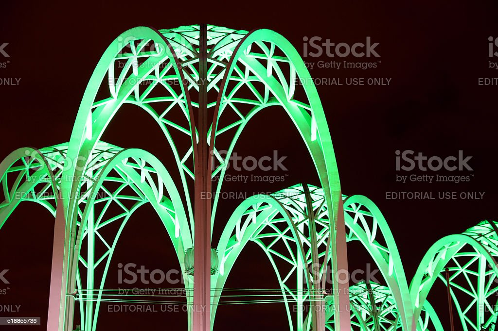 Green Arches stock photo