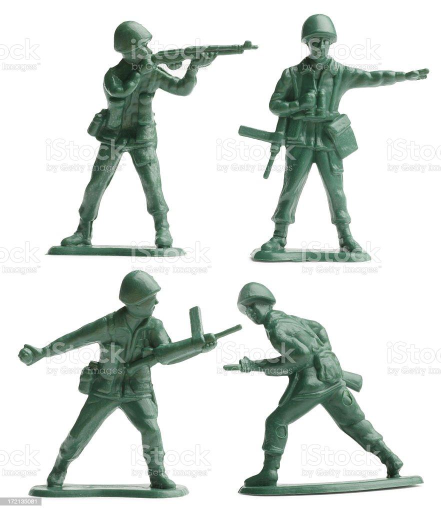 Green Army Men stock photo