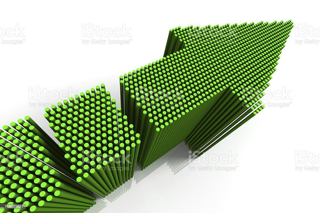 Green Arrow royalty-free stock photo