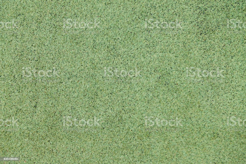 Green artificial turf for sports stock photo