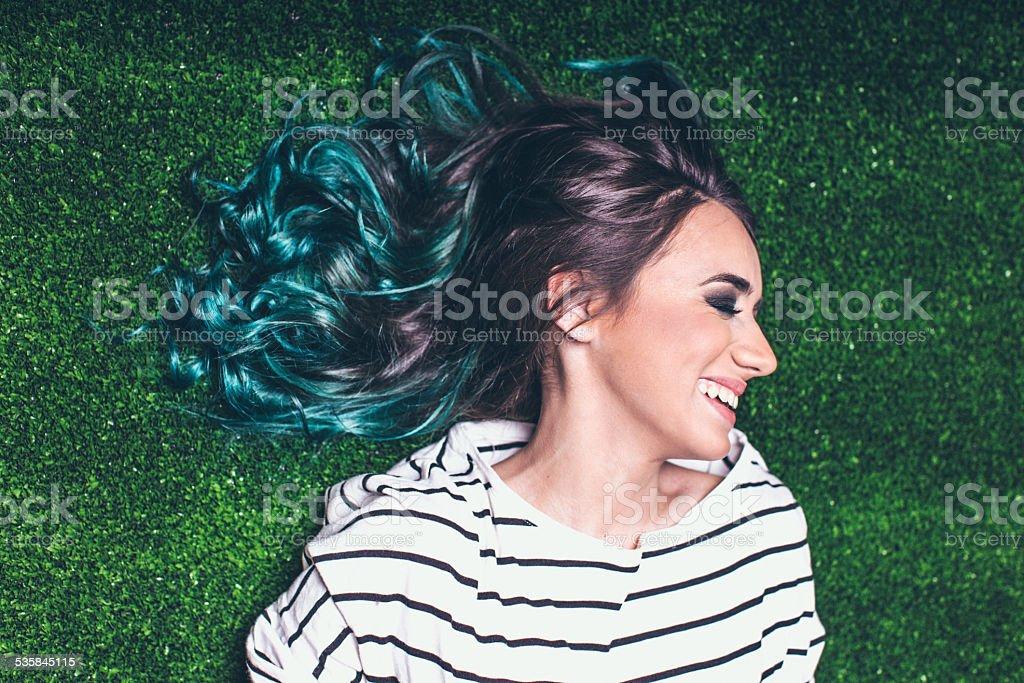 Green as grass stock photo