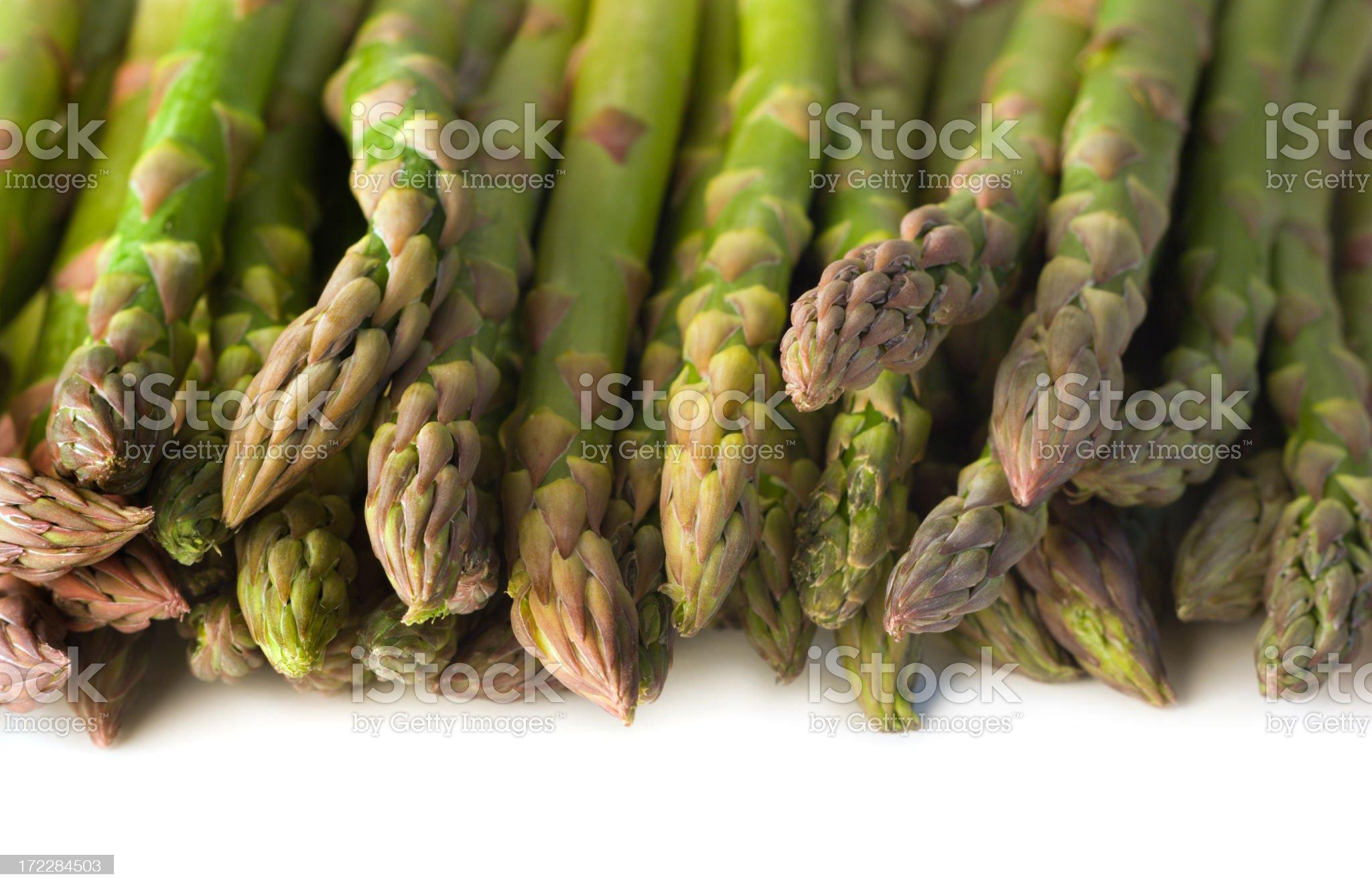 Green Asparagus Tips royalty-free stock photo