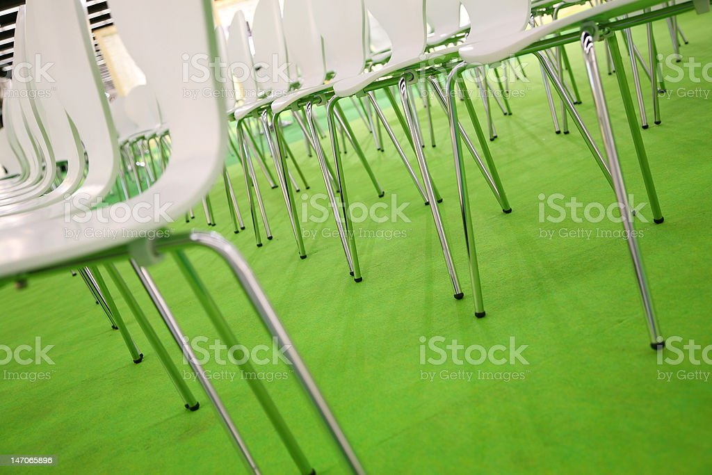 green auditorium royalty-free stock photo