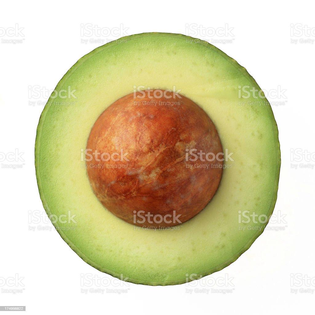 green avocado royalty-free stock photo