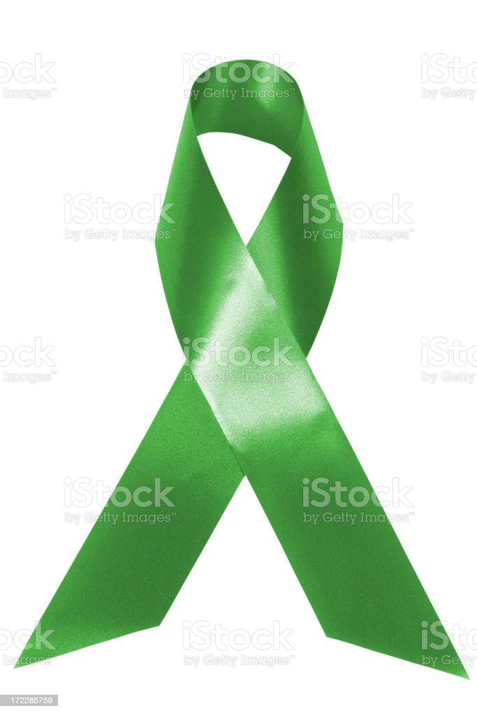 Green awareness ribbon royalty-free stock photo