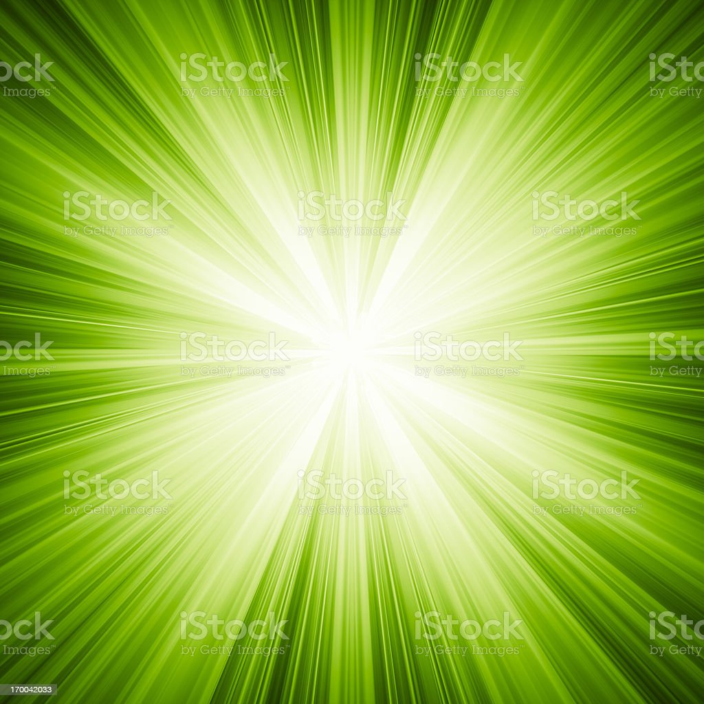A green background with white light stock photo