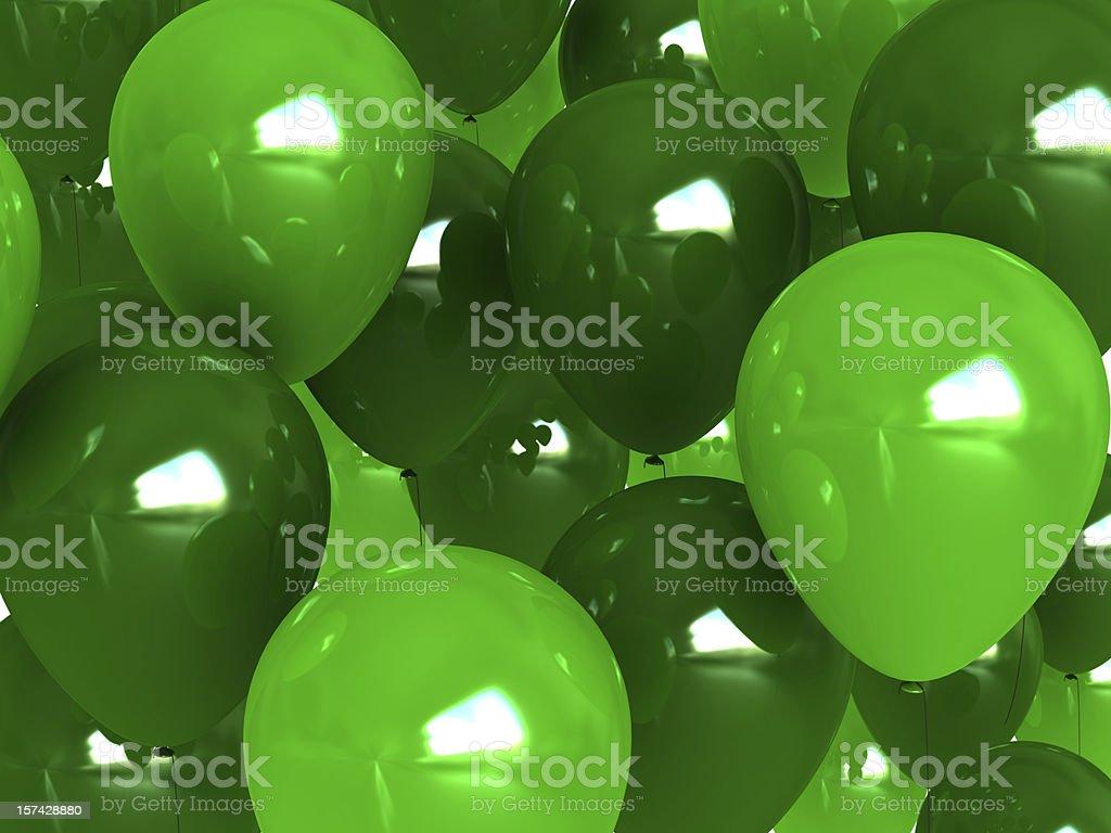Green balloon background stock photo