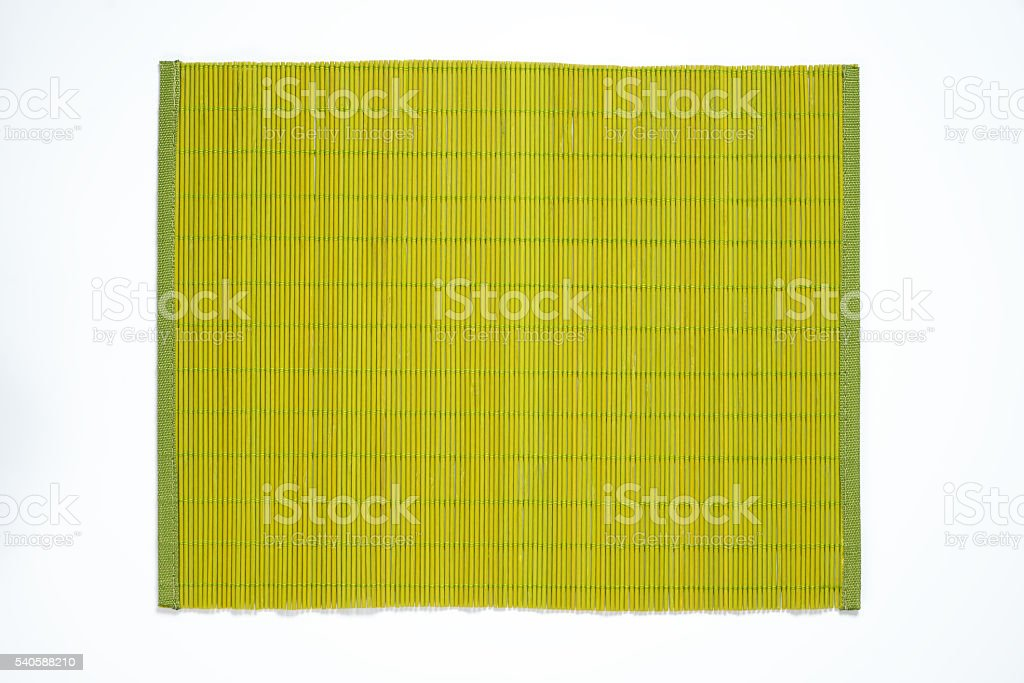 green bamboo placemat stock photo