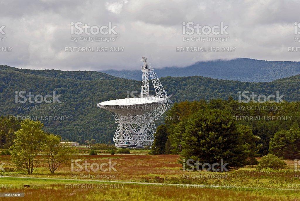 Green Bank Telescope stock photo